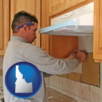 idaho map icon and a kitchen remodeling project