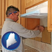 maine map icon and a kitchen remodeling project