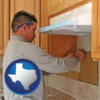 texas map icon and a kitchen remodeling project