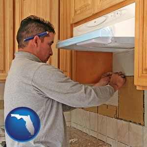 a kitchen remodeling project - with Florida icon
