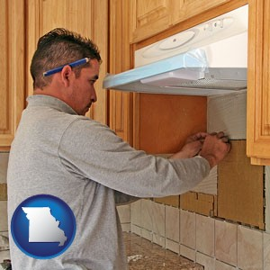 a kitchen remodeling project - with Missouri icon
