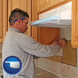 a kitchen remodeling project - with Oklahoma icon