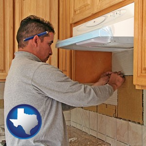a kitchen remodeling project - with Texas icon